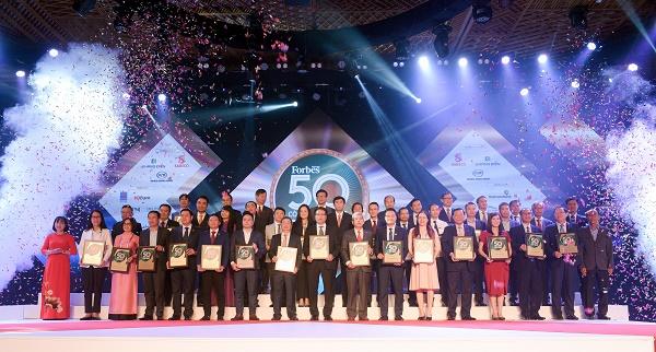 50 công ty niêm yết tốt nhất Việt Nam 2019 tại Lễ Vinh danh của Forbes