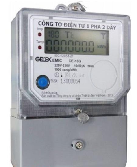 Công tơ điện tử 1 pha 2 dây CE-18G Emic