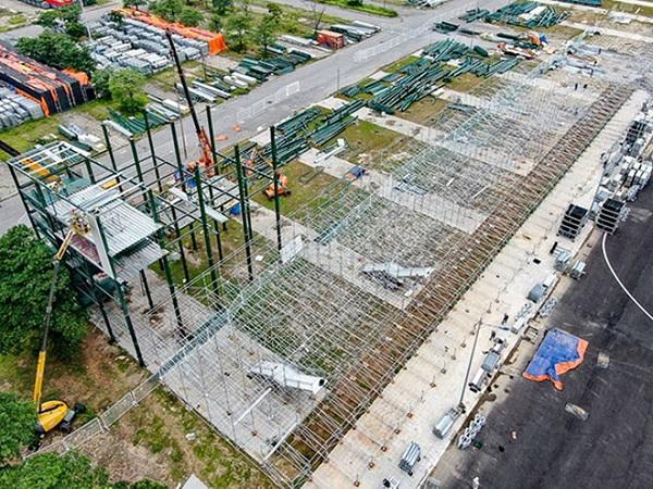 Khán đài chặng đua F1 Hà Nội đang được tháo dỡ