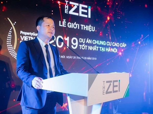 Ông Đặng Xuân Tâm – Tổng Giám đốc Công ty Cổ phần đầu tư Địa ốc Hải Đăng vui mừng thông báo về hai giải thưởng quan trọng The Zei nhận được