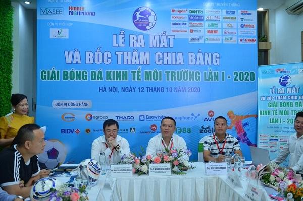 Lễ bốc thăm chia bảng Giải bóng đá Kinh tế Môi trường lần I-2020