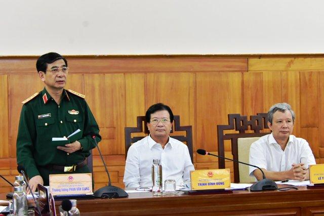 Thượng tướng Phạm Văn Giang: Bộ Quốc phòng sẽ huy động tổng lực lực lượng, phương tiện cứu hộ cứu nạn