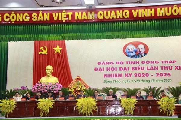Đại hội đại biểu Đảng bộ tỉnh Đồng tháp lần thứ XI, nhiệm kỳ 2020-2025 chính thức khai mạc.