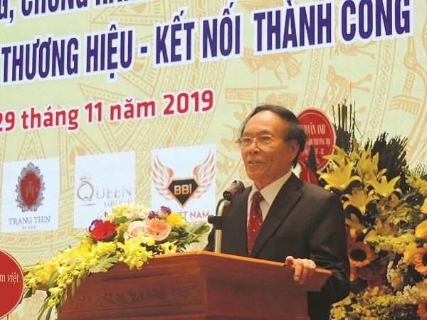 Chủ tịch Hiệp hội VATAP, Lê Thế Bảo phát biểu tại Lễ kỷ niệm Ngày phòng chống hàng giả, hàng nhái (2019)