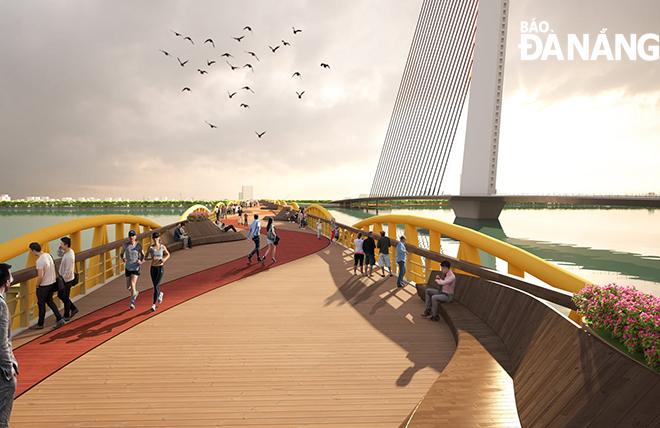 Cầu Nguyễn Văn Trỗi là điểm nhấn thiết kế kiến trúc làm tâm điểm cho các hoạt động tham quan du lịch, vọng cảnh.