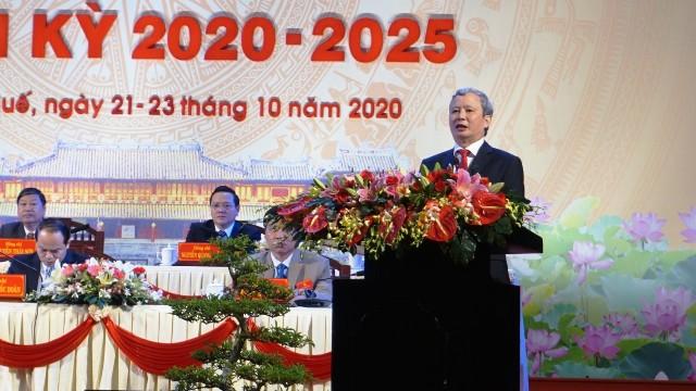 Bí thư Lê Trường Lưu phát biểu tại đại hội
