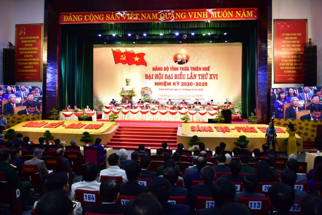 Quang cảnh đại hội Đảng bộ tỉnh TT Huế lần thứ XVI