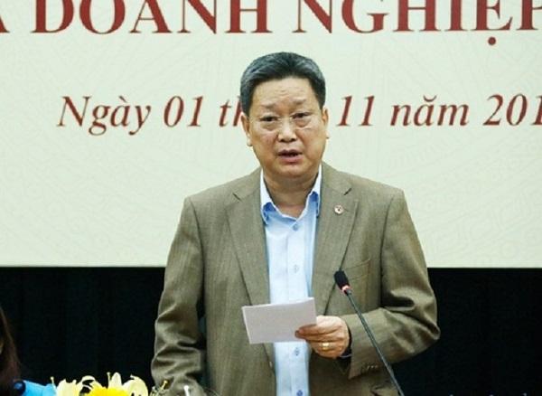 Ông Hồ Anh Tuấn - Chủ tịch Hiệp hội Phát triển Văn hóa Doanh nghiệp, Trưởng Ban tổ chức, trao đổi thông tin về Diễn đàn sắp diễn ra tại Hà Nội
