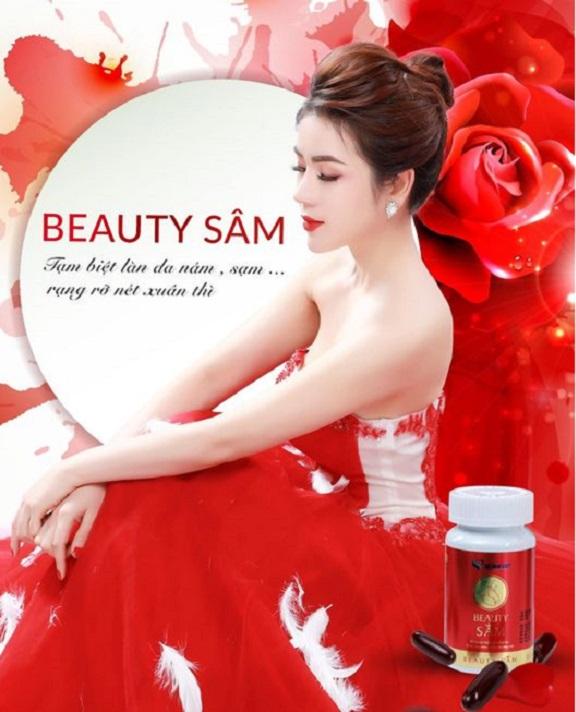 Sản phẩm Beauty Sâm của Tập đoàn Dược Mỹ phẩm Sa Sâm Việt. Ảnh TL