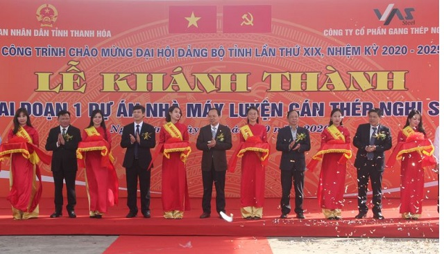 Khánh thành giai đoạn 1 Nhà máy luyện cán thép Nghi Sơn