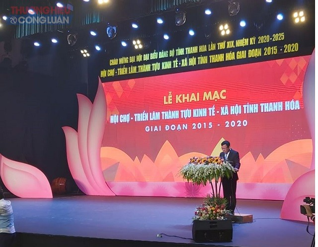 Ông Nguyễn Văn Thi, Phó Chủ tịch UBND tỉnh Thanh Hóa, Trưởng ban tổ chức phát biểu tại Lễ Khai mạc