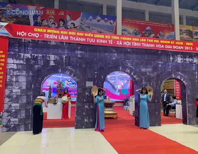 Hội chợ - triển lãm thành tựu kinh tế - xã hội tỉnh Thanh Hóa thu hút nhiều sự quan tâm của nhân dân