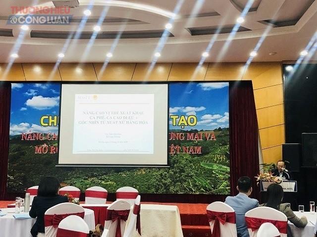 """chương trình đào tạo """" Nâng cao năng lực XTTM phát triển thị trường cho doanh nghiệp cà phê"""""""