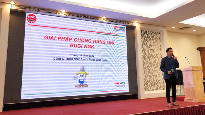 Ông Trần Thanh Kha, Giám đốc NGK Việt Nam chia sẻ về các giải pháp chống hàng giả của bugi NGK trên thị trường