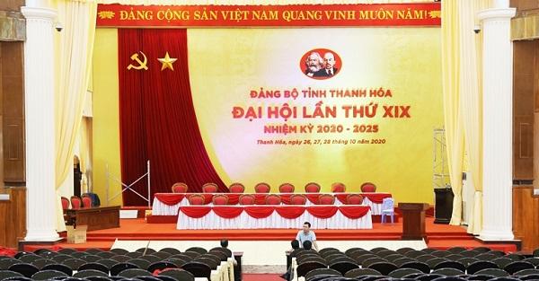 Hội trường lớn Trung tâm Hội nghị 25B của tỉnh.
