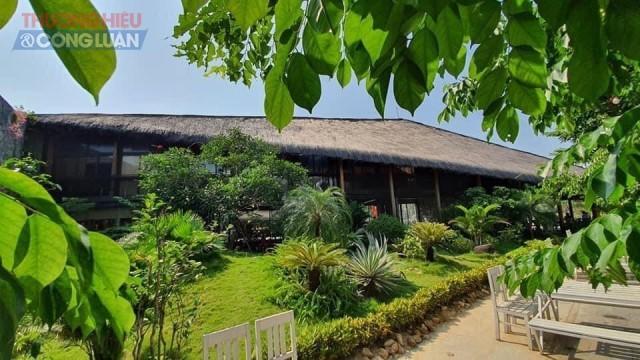 Không gian xanh nhà hàng Sabochi Tuệ Lâm tại TP. Đồng Hới (Quảng Bình)