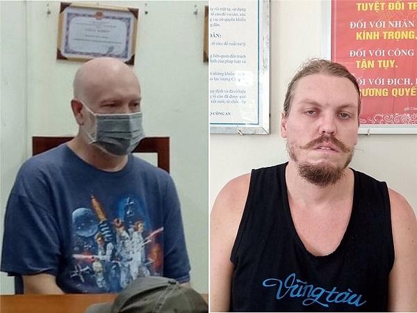 Đối tượng Wade Astle (trái) và đối tượng Hammmett Andrew (phải)