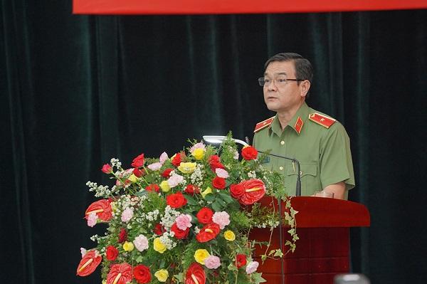 Thiếu tướng Lê Hồng Nam - Giám đốc Công an TP.HCM phát biểu tại sự kiện.