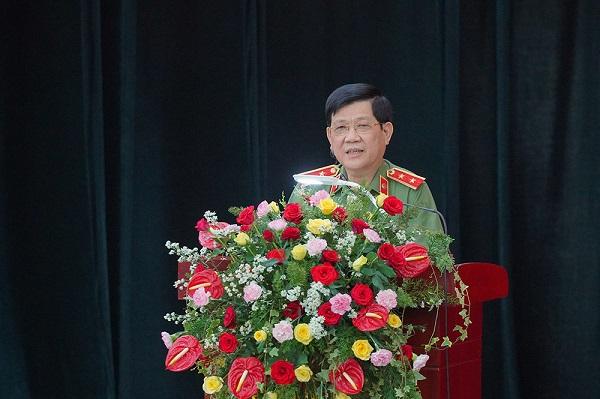 Trung tướng Nguyễn Văn Sơn - Thứ trưởng Bộ Công an phát biểu chỉ đạo tại sự kiện.