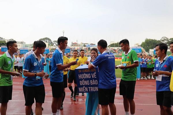 Các cầu thủ tham gia ủng hộ, hướng về đồng bào miền Trung