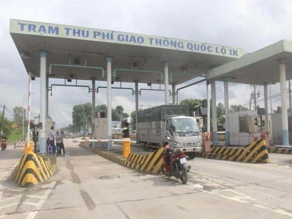 Trạm thu phí BOT Quốc lộ 1K (Ảnh: An ninh Thủ đô)