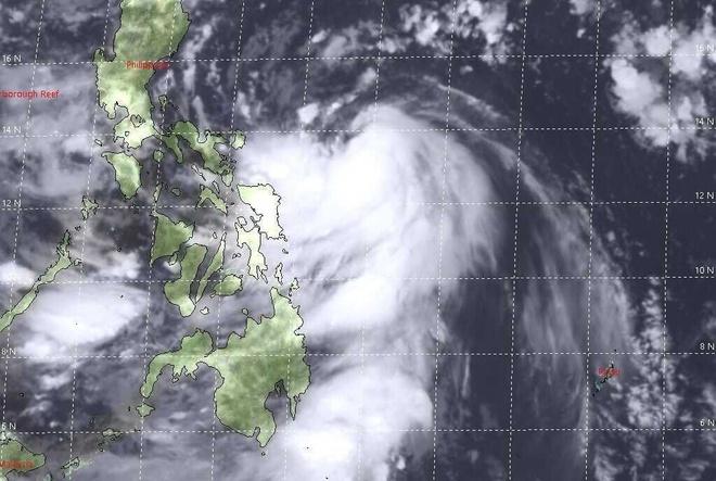 Hình ảnh vệ tinh cơn bão số 9 (tên quốc tế là Molave).