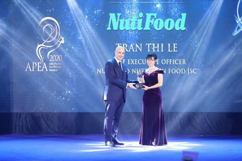 """NutiFood lập """"hat-trick"""" với 3 giải thưởng quốc tế châu Á (Ảnh: Nutifood)."""