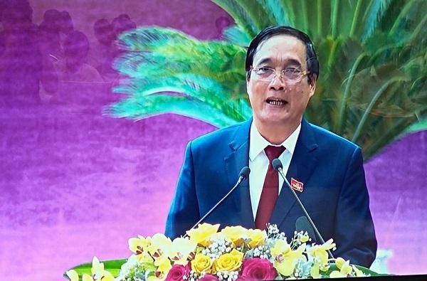 Bí thư Tỉnh ủy tỉnh Phú Thọ Bùi Minh Châu phát biểu khai mạc Đại hội