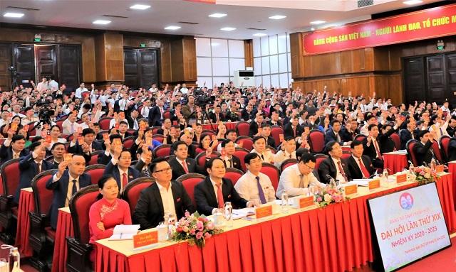 Đại hội đã biểu quyết nhất trí 100% số lượng BCH Đảng bộ tỉnh khóa XIX, nhiệm kỳ 2020-2025 là 65 đồng chí, tại Đại hội bầu 65 đồng chí.