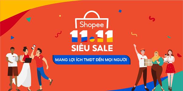 Shopee khởi động sự kiện 11.11 Siêu Sale mang lợi ích thương mại điện tử đến tất cả người dùng