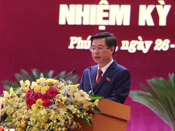 Giám đốc Sở KH&ĐT tỉnh Phú ThọTrịnh Thế Truyền trình bày tham luận tại đại hội TUV,