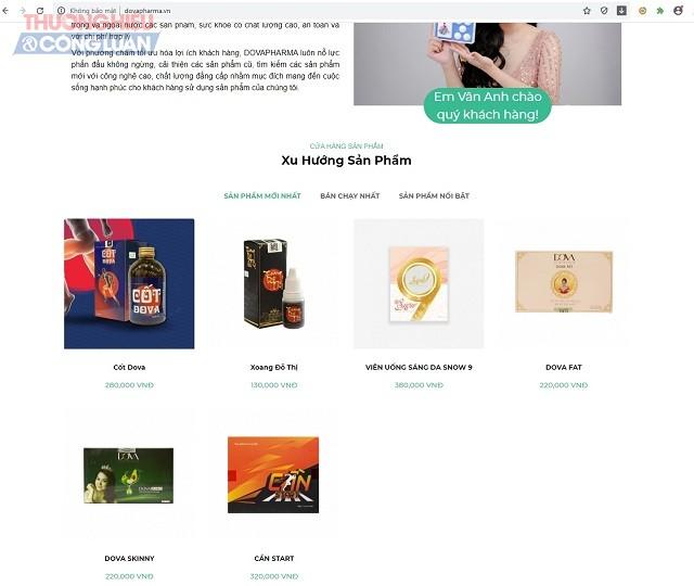 trang https://dovapharma.vn/, cũng giới thiệu nhiều sản phẩm