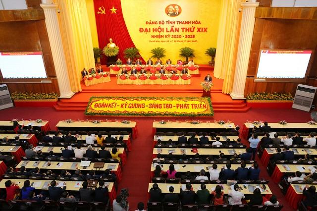 ại hội đại biểu Đảng bộ tỉnh Thanh Hóa lần thứ XIX, nhiệm kỳ 2020 - 2025, tiếp tục phiên làm việc.