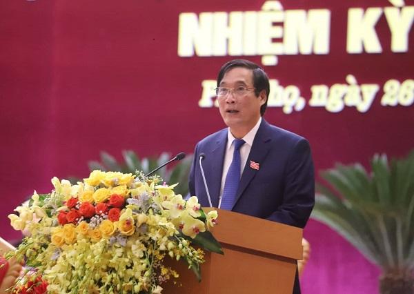 Bí thư Tỉnh ủy Bùi Minh Châu phát biểu bế mạc tại Đại hội