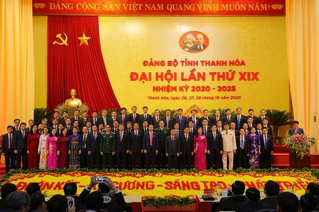 Ban Chấp hành Đảng bộ tỉnh Thanh Hóa  khóa XIX, nhiệm kỳ 2020 - 2025 đã ra mắt, nhận nhiệm vụ trước Đại hội.