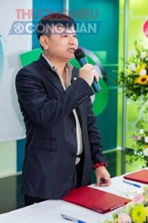 Ông Đặng Quốc Dũng,  Chủ tịch hội đồng Quản trị Nhựa Tiền Phong phát biểu tại buổi lễ