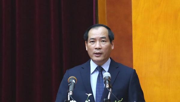 Phó chủ tịch UBND tỉnh Lạng Sơn, Dương Xuân Huyên phát biểu tại hội nghị