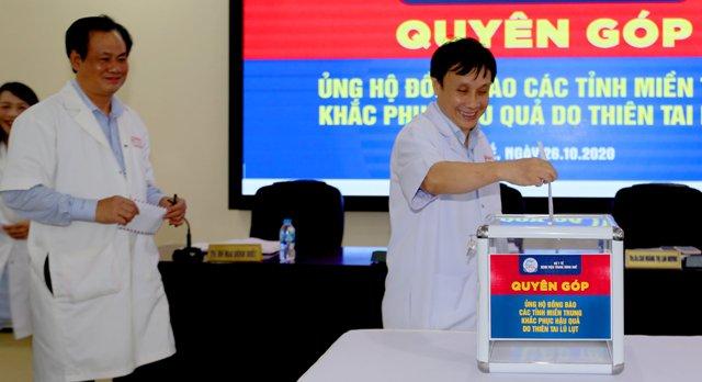 Lãnh đạo BVTW Huế tổ chức quyên góp