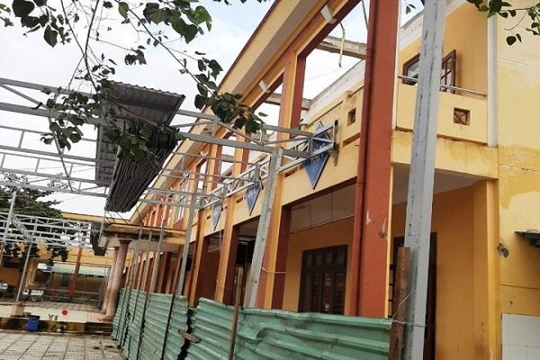 Nhiều trường học trên địa bàn bị hư hỏng sau bão số 9