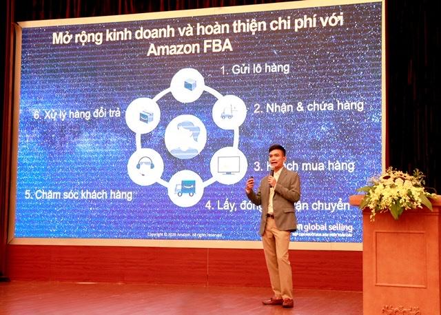 Ông Trần Xuân Thủy, Giám đốc Amazon Việt Nam chia sẻ về những cơ hội xuất khẩu trực tuyến thông qua nền tảng Amazon