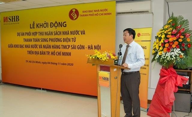 Ông Nguyễn Hoàng Hải - Giám Đốc KBNN TP HCM phát biểu tại sự kiện