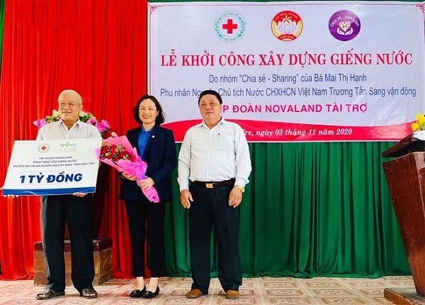 Với sự tài trợ của Tập đoàn Novaland, thời gian sắp tới sẽ có 200 giếng nước sạch phục vụ sinh hoạt cho người dân tại huyện Ba Tri và Mỏ Cày Nam (Tỉnh Bến Tre)