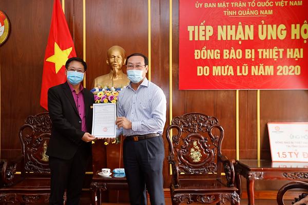 Ông Võ Xuân Ca - Chủ tịch UB MTTQ Việt Nam tỉnh Quảng Nam gửi thư cảm ơn đến Tập đoàn Hưng Thịnh