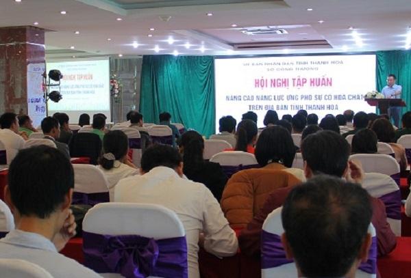Sở Công thương Thanh Hóa phối hợp với Viện Hoá học Công nghiệp Việt Nam đã tập huấn nâng cao năng lực ứng phó sự cố hoá chất trên địa bàn tỉnh
