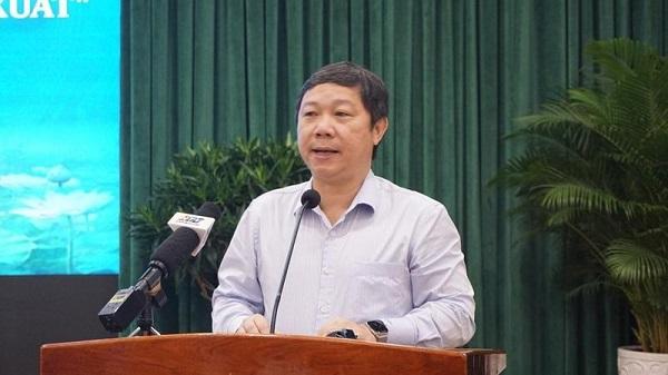 Phó Chủ tịch UBND TP HCM Dương Anh Đức phát biểu chỉ đạo tại hội nghị.