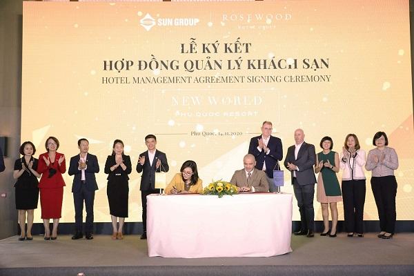 Lễ ký kết hợp tác giữa TĐ Sun Group và TĐ Rosewood Hotel Group