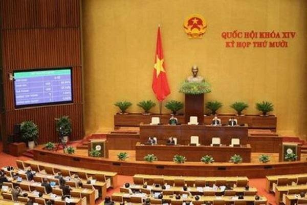 Với tỷ lệ tán thành đạt 87,14% trên tổng số đại biểu, Quốc hội đã thông qua Nghị quyết về tổ chức chính quyền đô thị tại TPHCM