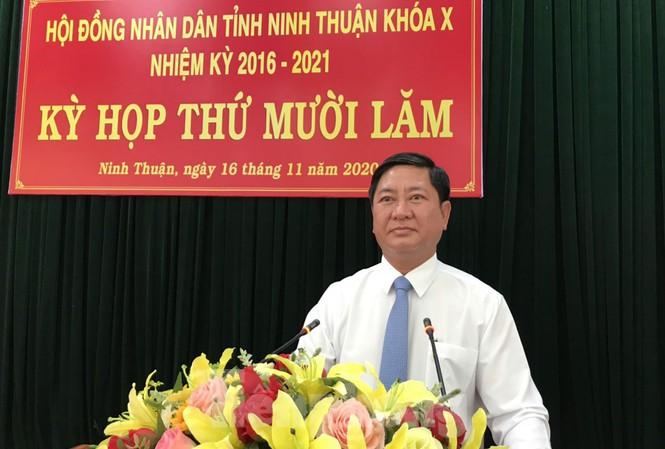 Ông Trần Quốc Nam phát biểu nhận nhiệm vụ Chủ tịch UBND tỉnh Ninh Thuận