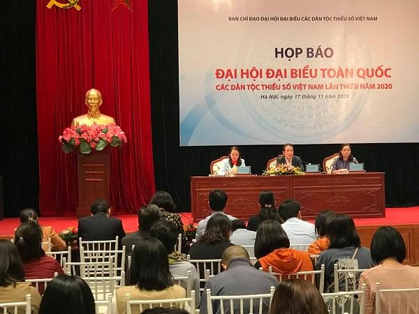Thứ trưởng Bộ Thông tin và Truyền thông Hoàng Vĩnh Bảo chủ trì họp báo Đại hội đại biểu toàn quốc các dân tộc thiểu số lần thứ II năm 2020
