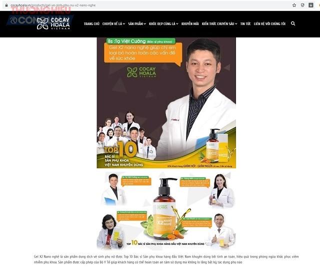 Đơn vị này còn sử dụng hình ảnh và chia sẻ của các bác sĩ